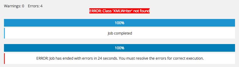 BackWPUp-Error