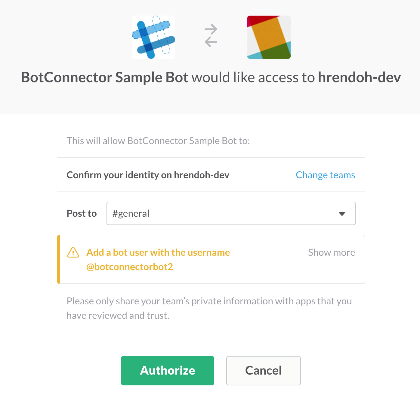 bot-connector-sample-authorize-access-to-my-team